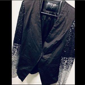 Like New Blazer, Nasty Gal Sequin Sleeve